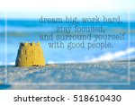 inspirational motivating quote... | Shutterstock . vector #518610430
