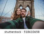 beautiful happy couple taking... | Shutterstock . vector #518610658