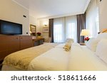 interior of a new hotel double...   Shutterstock . vector #518611666