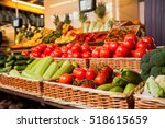 Greengrocery With Fresh Fruits...