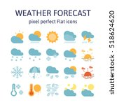 weather forecast   flat icons   ... | Shutterstock .eps vector #518624620