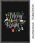 christmas quote. quote isolated ... | Shutterstock .eps vector #518625424