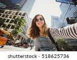 Pretty Female Girl Tourist...