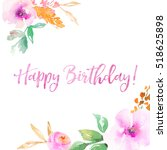 happy birthday background with... | Shutterstock . vector #518625898