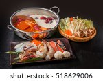 A Chinese dishes prepared with medicinal herbs hotpot and exclusive pan