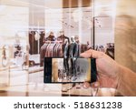 augmented reality application... | Shutterstock . vector #518631238
