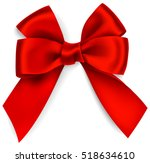 beautiful decorative red bow... | Shutterstock .eps vector #518634610