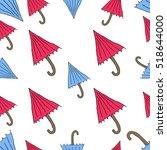 the pattern of umbrellas... | Shutterstock .eps vector #518644000