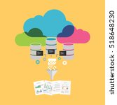 big data. extract information... | Shutterstock .eps vector #518648230