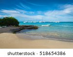 boats on caribbean sea ... | Shutterstock . vector #518654386