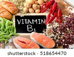 Small photo of Foods Highest in Vitamin B1 (Thiamin). Top view