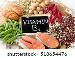 foods highest in vitamin b1 ... | Shutterstock . vector #518654476