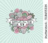 happy new year ribbon banner...   Shutterstock .eps vector #518655334
