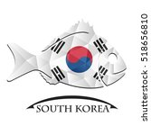 fish logo made from the flag of ... | Shutterstock .eps vector #518656810