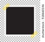 photo frame on sticky tape.... | Shutterstock .eps vector #518660146