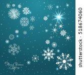 vector winter pattern... | Shutterstock .eps vector #518674060