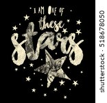 slogan graphics and stars for t ... | Shutterstock .eps vector #518678050