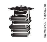 black silhouette graduation cap ...