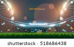sports stadium with lights  eps ... | Shutterstock .eps vector #518686438