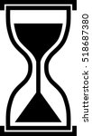 clock icon . hourglass.... | Shutterstock .eps vector #518687380