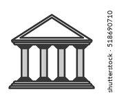 monochrome color of greek...   Shutterstock .eps vector #518690710