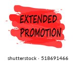extended promotion vector card | Shutterstock .eps vector #518691466