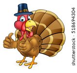 cartoon thanksgiving or... | Shutterstock . vector #518694304