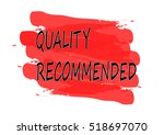 quality recommended vector card | Shutterstock .eps vector #518697070