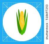 corn cob icon   Shutterstock .eps vector #518697253