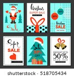 christmas sale and discount... | Shutterstock .eps vector #518705434