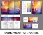 set of color brochure template... | Shutterstock .eps vector #518720686