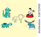 animal vector | Shutterstock .eps vector #518722453