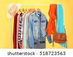 hangers with different female... | Shutterstock . vector #518723563