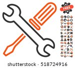 tuning tools icon with bonus... | Shutterstock .eps vector #518724916