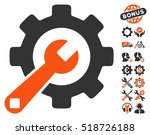 service tools icon with bonus... | Shutterstock .eps vector #518726188