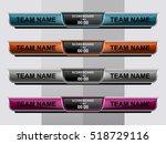 scoreboard sport template for... | Shutterstock .eps vector #518729116