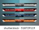 scoreboard sport template for... | Shutterstock .eps vector #518729119