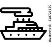 motor ship icon | Shutterstock .eps vector #518729530
