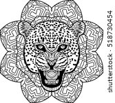 coloring page for adults. stern ... | Shutterstock .eps vector #518730454