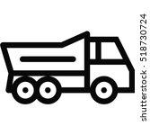 truck icon | Shutterstock .eps vector #518730724