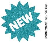 new sticker grainy textured... | Shutterstock . vector #518731150