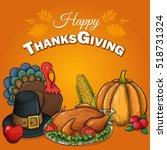 thanksgiving greeting... | Shutterstock .eps vector #518731324