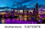 Vibrant Night Time Panorama Of...