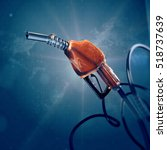 fuel gas filling nozzle 3d... | Shutterstock . vector #518737639