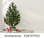 3d illustration. christmas... | Shutterstock . vector #518737933