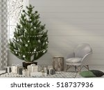 3d illustration. christmas... | Shutterstock . vector #518737936