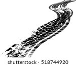 vector print textured tire... | Shutterstock .eps vector #518744920