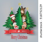 merry christmas greeting card... | Shutterstock .eps vector #518752129