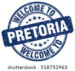 welcome to pretoria. stamp. | Shutterstock .eps vector #518752963