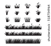 grass vector set.  | Shutterstock .eps vector #518754964